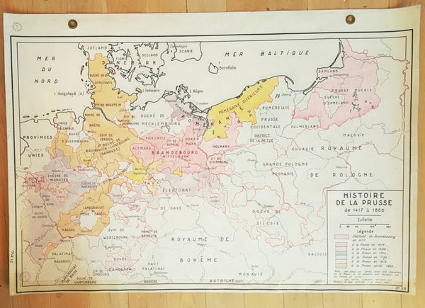 Vintage Map of Prussia-Faraway Places