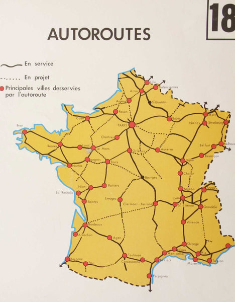 Vintage Rossignol School Map of France-Faraway Places
