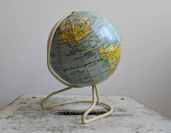 French Vintage Midcentury Globe, Perfect for Stylish Shelfies