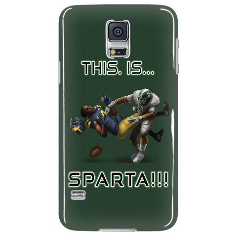 Michigan State Spartans This Is Sparta Green Samsung Galaxy S5 Cellphone Case
