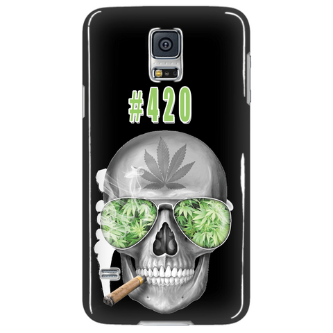 #420 Weed Samsung Galaxy S5 Black Cellphone Case