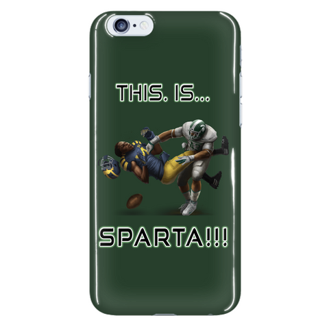 Michigan State Spartans This Is Sparta iPhone 6 Plus & 6S Plus Green Cellphone Case
