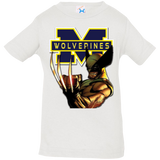 Michigan Wolverines III Custom Designed Infant Jersey Tee