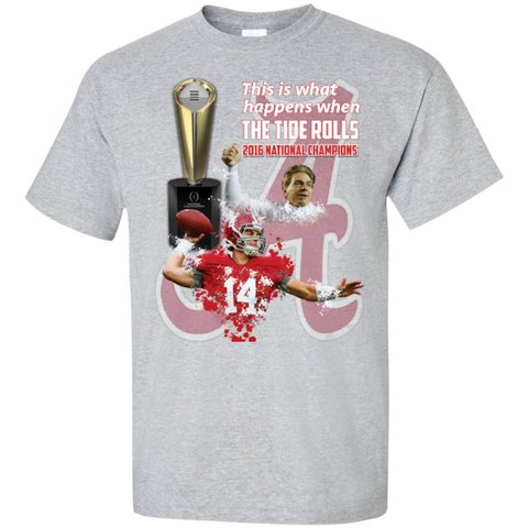 Alabama Crimson Tide 2016 National Champions Custom Tall Ultra Cotton T-Shirt