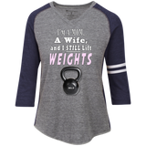 I'm A Mom A Wife and I Still Lift Weights Ladies' Vintage V-neck Shirt