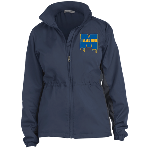 Michigan Wolverines I Bleed Blue Ladies Core Colorblock Wind Jacket
