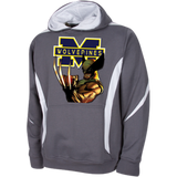 Michigan Wolverines III Custom Designed Colorblock Hoodie Sweatshirt