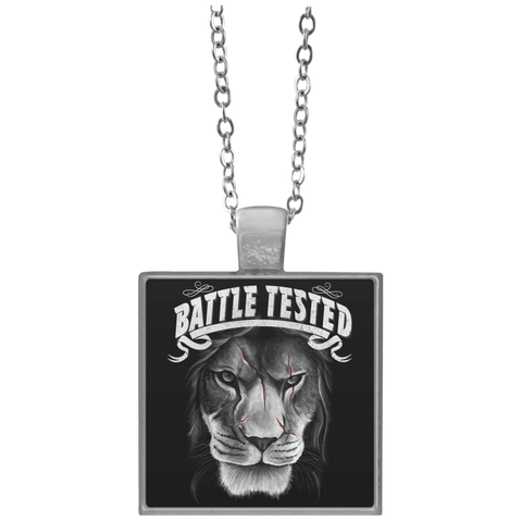 Battle Tested Square Necklace
