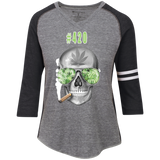 #420 Weed Ladies' Vintage V-neck Shirt