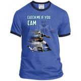 Cam Newton Panthers Custom Designed Fan Ringer Tee