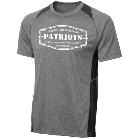 The Ultimate Fan Of The New England Patriots Custom Printed Heather Colorblock Poly T-shirt