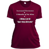 Pregnancy Don't Mess With Me Ladies Short Sleeve Moisture-Wicking Shirt