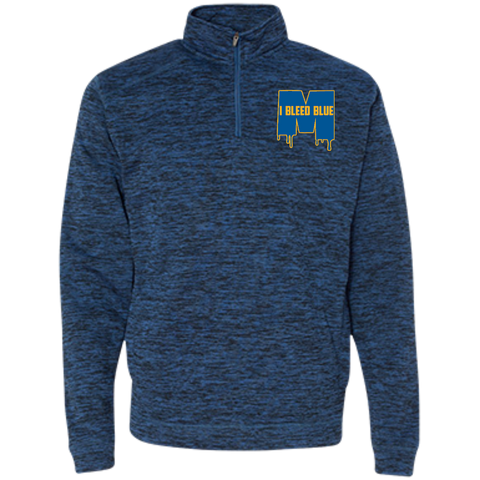 Michigan Wolverines I Bleed Blue J America Men's Cosmic Fleece 1/4 Zip