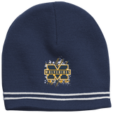 Michigan Wolverines Splatter Logo Colorblock Beanie