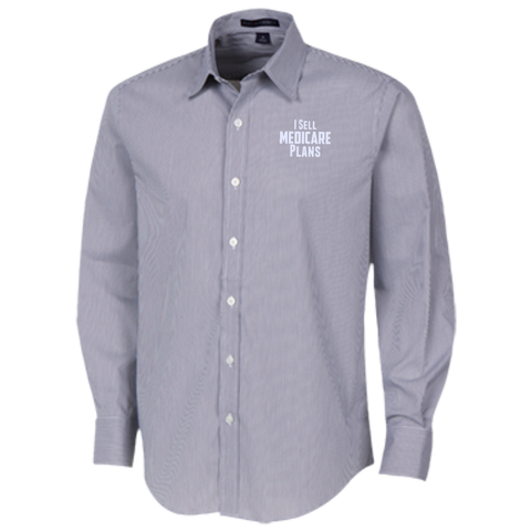 I Sell Medicare Plans Fine Stripe Stretch Poplin Shirt