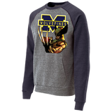 Michigan Wolverines II Custom Designed Vintage Fleece Heathered Crew
