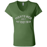 Puerto Rico Girls Trip 2017 v2 B6005 Bella + Canvas Ladies Jersey V-Neck T-Shirt