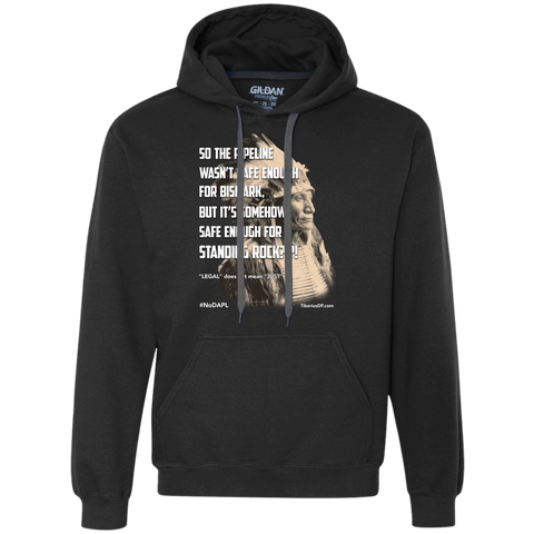 Standing Rock Protest NoDAPL 9oz Hooded Sweatshirt