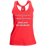 Pregnancy Don't Mess With Me Ladies Shimmer Loop Back Tank