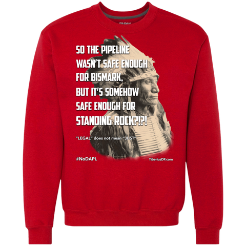 Standing Rock Protest NoDAPL 9 oz Men's Long Sleeve Sweatshirt
