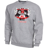 Batman vs Superman Dawn Of Justice-FRONT & BACK Design Pullover Crew Sweatshirts 9.5 oz