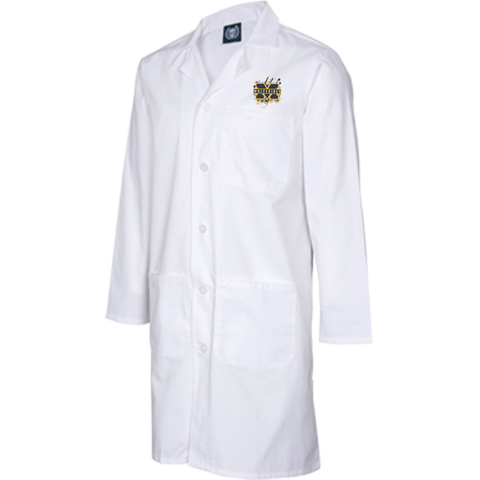 Michigan Wolverines Splatter Logo 39 inch Men's Staff Labcoat