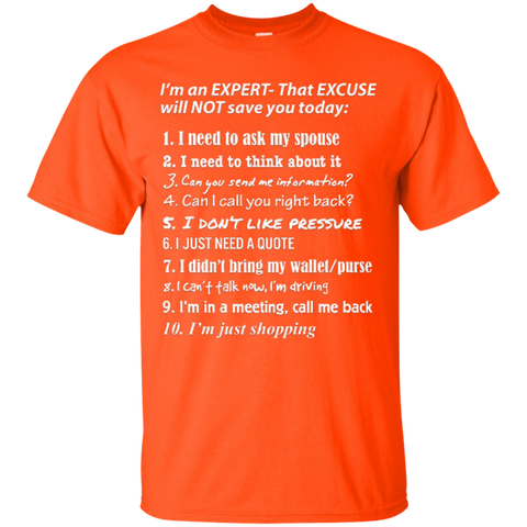 Expert Sales Professional Custom Ultra Cotton T-Shirt