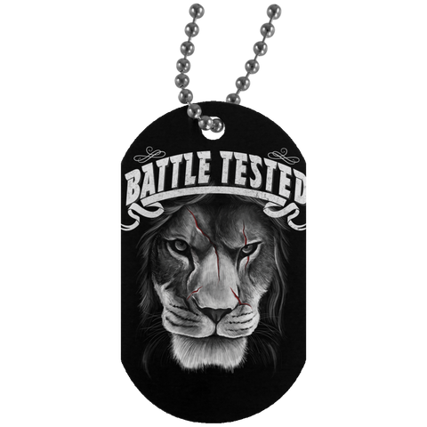 Battle Tested Silver Dog Tag