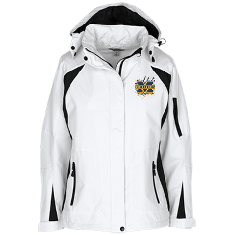 Michigan Wolverines Splatter Logo Ladies Custom Embroidered Jacket