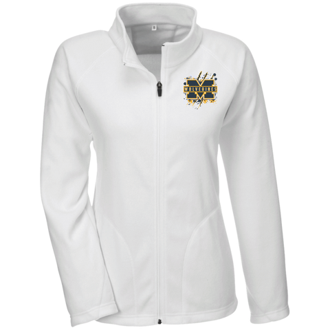 Michigan Wolverines Splatter Logo Team 365 Ladies Microfleece
