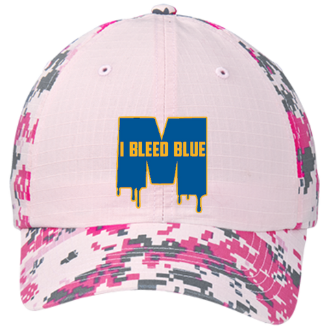 new product 43c1e 0426a ... Michigan Wolverines I Bleed Blue Colorblock Digital Camouflage Cap ...