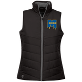 Michigan Wolverines I Bleed Blue Ladies Quilted Vest
