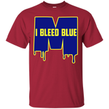 Michigan Wolverines I Bleed Blue Custom Ultra Cotton Unisex T-Shirt