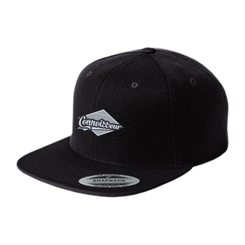 Full-time Cigar Connoisseur Flat Bill High-Profile Snapback Hat