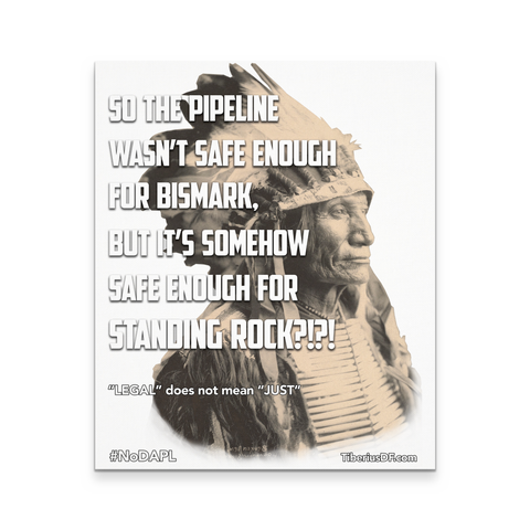 Standing Rock Protest NoDAPL Canvas Wall Art