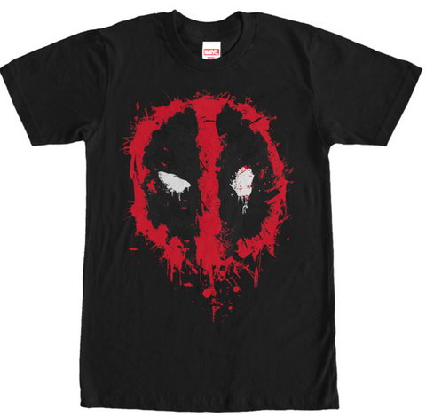 Deadpool Splatter Icon Mens T-Shirt