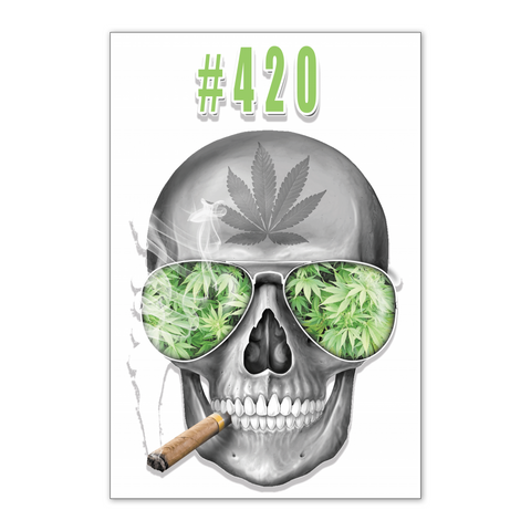 "#420 Weed 24"" x 36"" Poster On White Background"