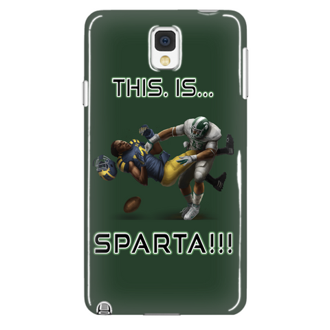 Michigan State Spartans This Is Sparta Green Samsung Galaxy Note 4 Cellphone Case