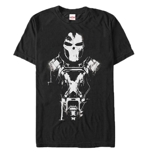 Captain America Civil War Crossbones Paint T-Shirt