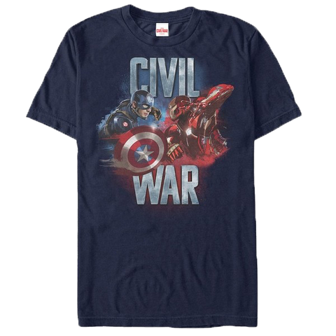 Captain America Civil War Leaders Face Off T-Shirt