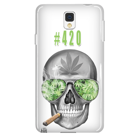#420 Weed Samsung Galaxy Note 4 White Cellphone Case