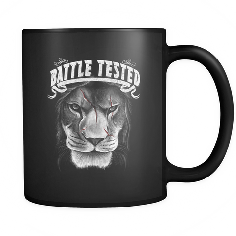 Battle Tested Black 11oz Coffee Mug