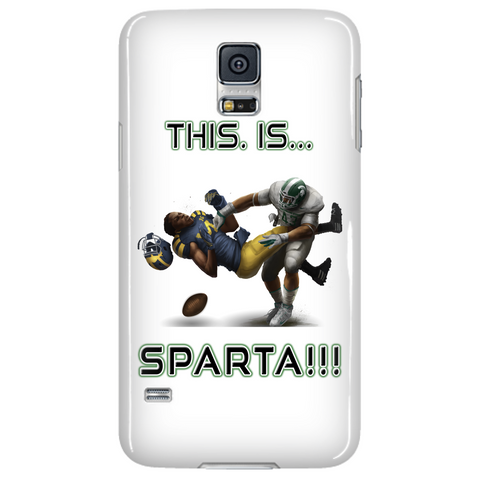 Michigan State Spartans This Is Sparta Samsung Galaxy S5 White Cellphone Case