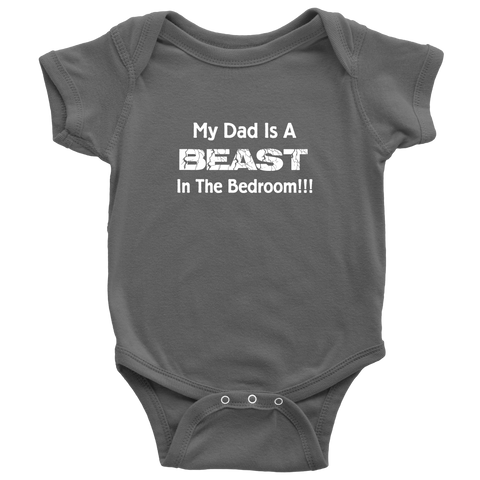 Funny Baby Clothes My Dad Is A Beast Baby Onesie Tiberius Deal