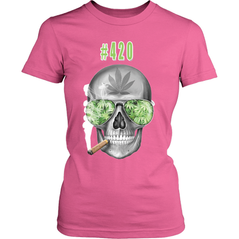 #420 Womens Longs Sleeve Weed Shirt
