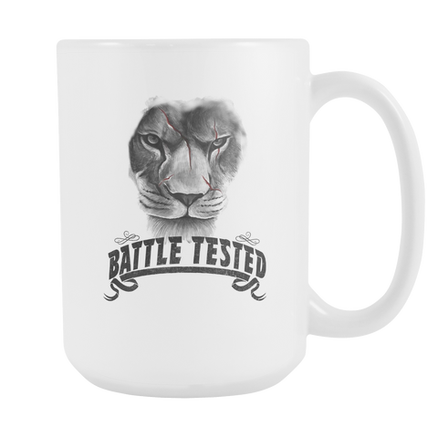 Battle Tested 15oz Double Sided Coffee Mug
