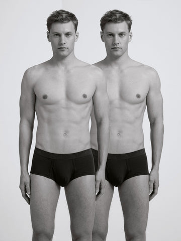Classic Rib Brief / Twin Pack / Black