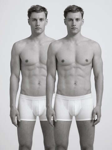 Core Slim Organic Boxer Brief/ Twin Pack/ White