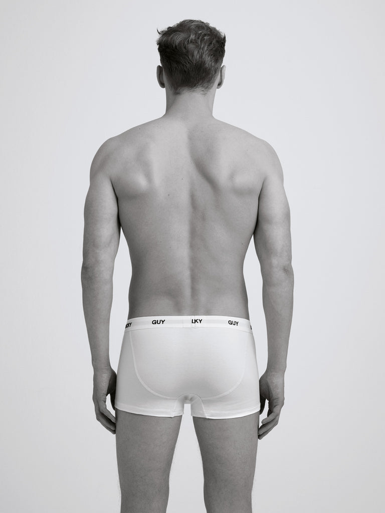 Lucky Guy Boxer Brief / Twin Pack / White