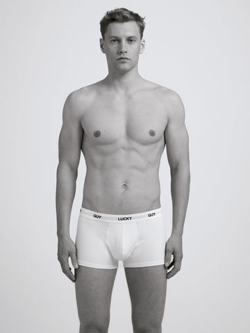 Lucky Guy Boxer Brief/ White